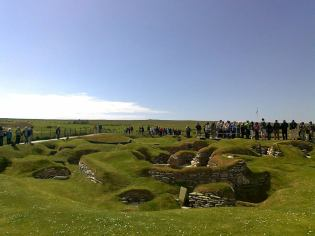 Skara Brae, 2017, when a cruise ship is in
