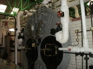Lyness pump engine room