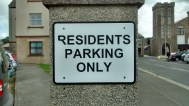 Residents Parking only (F Grahame)