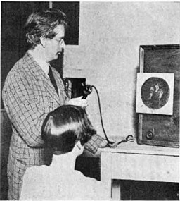 John Logie Baird and his television receiver By Orrin Dunlap, Jr. [Public domain], via Wikimedia Commons