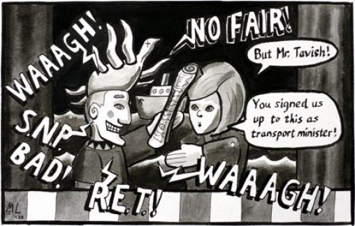 Ferries cartoon for iScot from Martin ON version