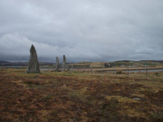 Standing stones on Lewis B Bell