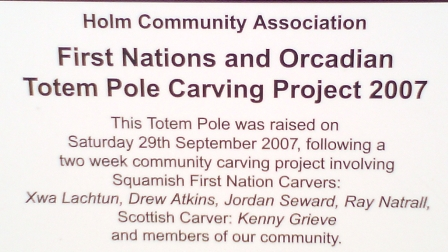 Totem Pole Orkney explanation B Bell