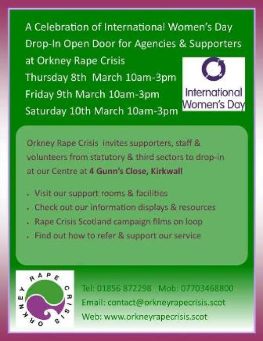 Orkney Rape Crisis event for women's day