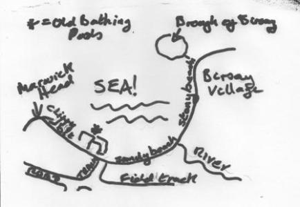 Bernies map of Birsay
