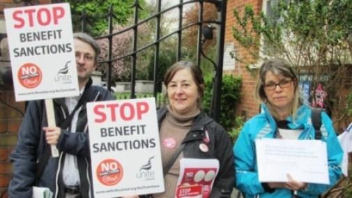 Benefit Sanctions protest