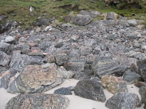 stones on Lewis gneiss B Bell