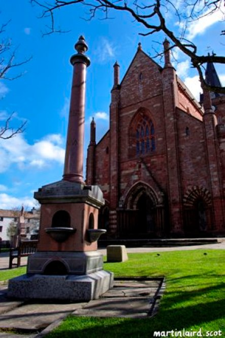Covenanters memorial fountain st magnus cathedral kirkwall