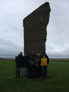 Standing stones of Stenness Bernies pals