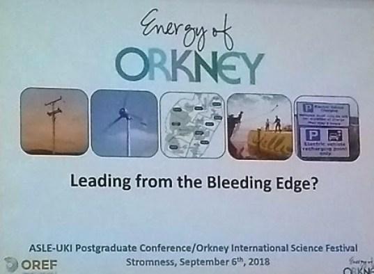Renewables talk 4 Science festival 2018