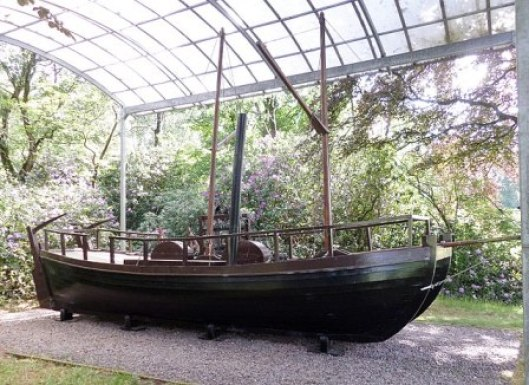 William Symington's and Patrick Miller's steam boat Dalswinton