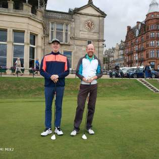 Iain & Ryan Wilkie at St Andrews