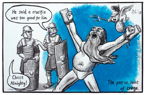 iscot orkney news st andrew cartoon martin laird (1)