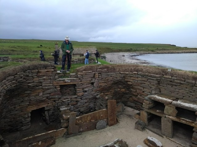Phil Godfrey at Skara Brae