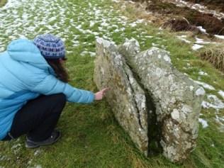 Brodgar graffiti stumpy stone 1 M Bell