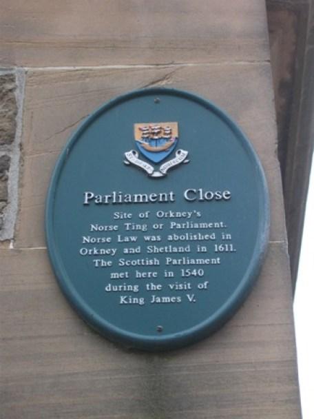 Albert St Kirkwall B Bell 6 Parliament
