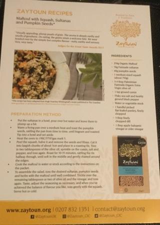 Zaytoun recipe