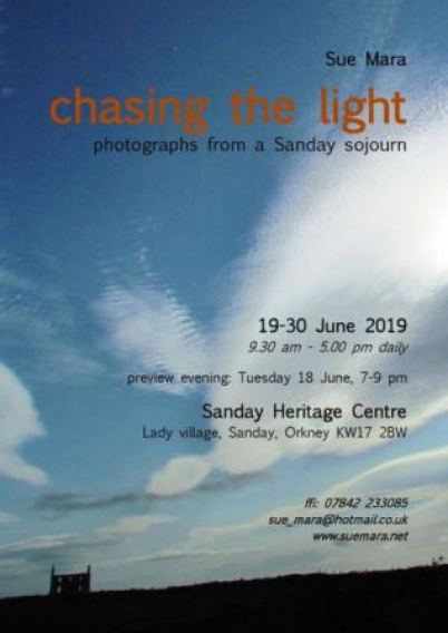 Chasing the Light exhibition Sanday