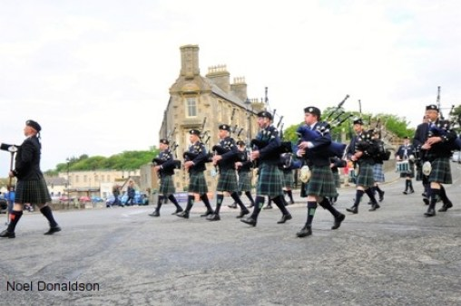 Wick RBLS pipe band Noel Donaldson