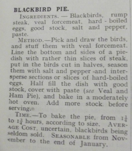 Blackbird pie Mrs Beeton Bell