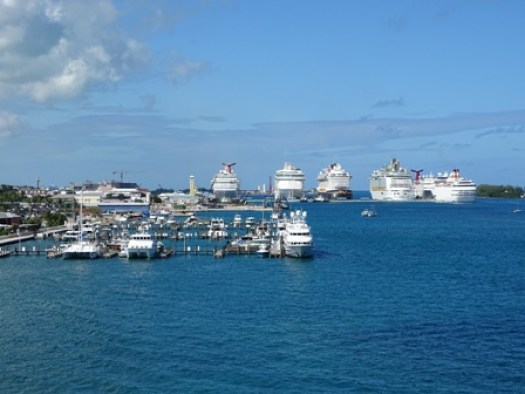 Cruise ships in Nassau M Bell