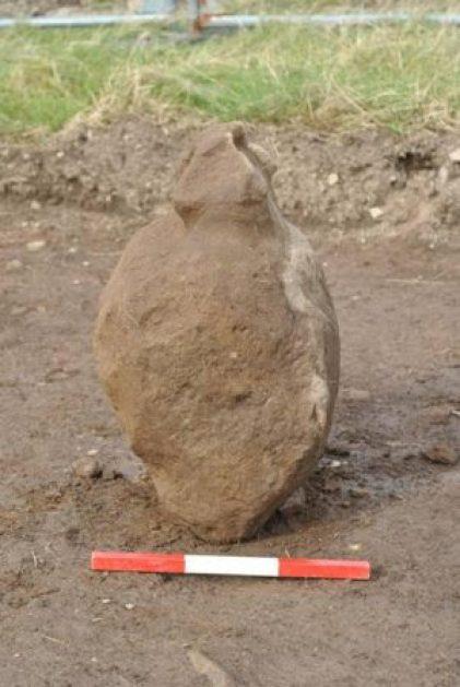 Bronze Age stone figure Finstown