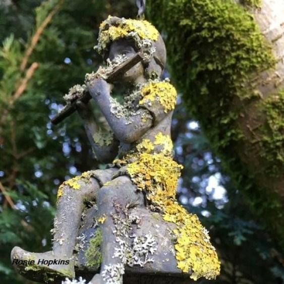 statue with lichen by Rosie Hopkins