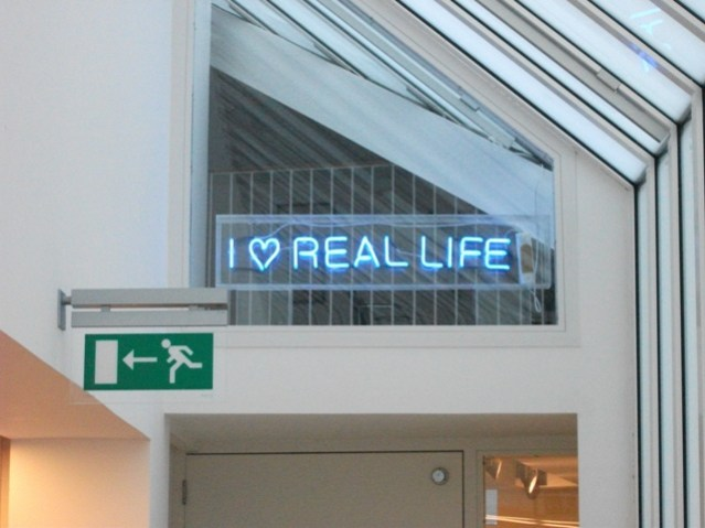 Neon sign by Ross Sinclair – part of the Pier Arts Centre permanent exhibition photo M Bell