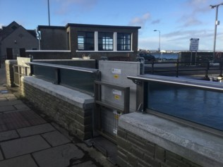 Flood wall Kirkwall 14th January 2020