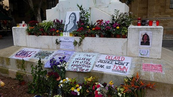 Memorial to Daphne Caruana Galizia