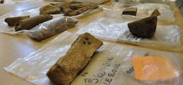Some of the whale bone unearthed at The Cairns broch, Orkney. Photo UHI Archaeology Institute