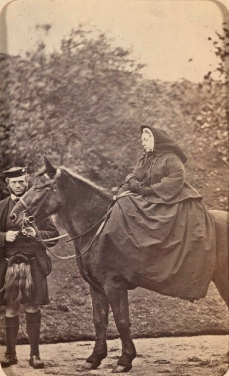 Queen Victoria with her pony, Fyvie, and John Brown. Royal Collection Trust / © Her Majesty Queen Elizabeth II 2020