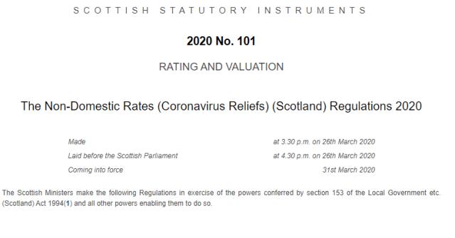 rates relief COVID19