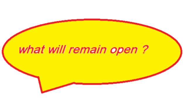 what will remain open COVID 19