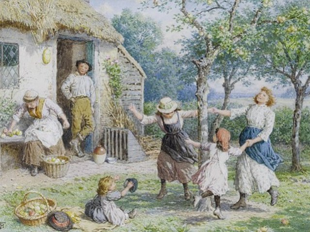 Ring a ring a Roses by Myles Birket Foster