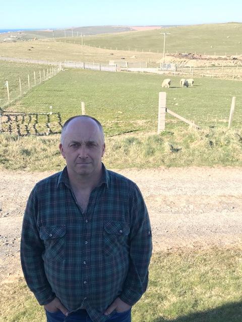 Kevan Harvey Vestrafold Sandwick farmer