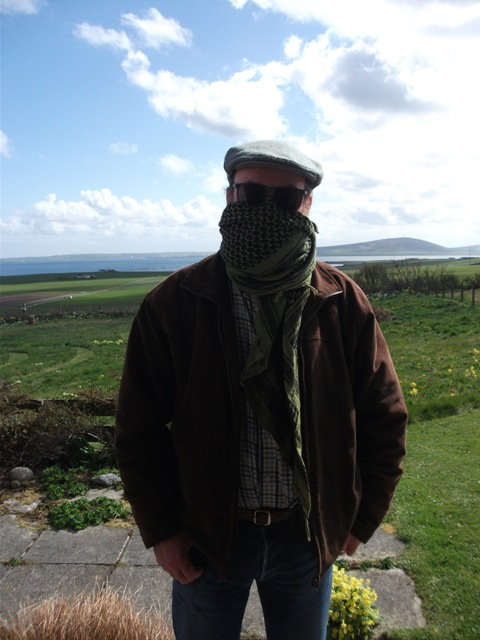 Mike Bell in Scarf by B Bell Covid19