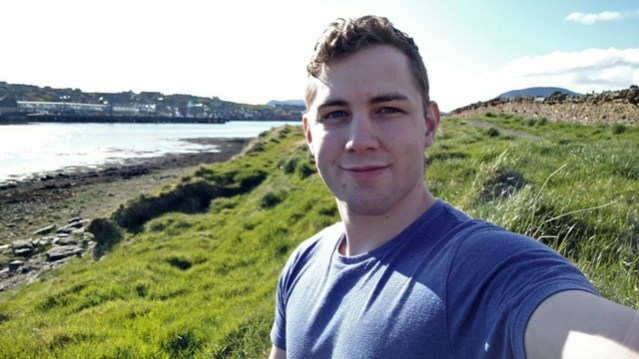 Firefighter Ross Harvey pictured on Orkney