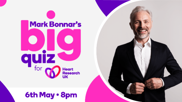 Mark's big quiz Mark Bonnar Heart Research UK