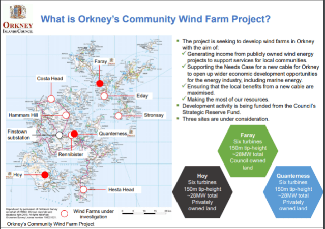 Orkney Community Wind Farm Project - slide OIC
