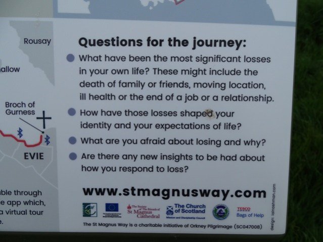St Magnus Way Evie to Birsay theme Loss Credit Bell