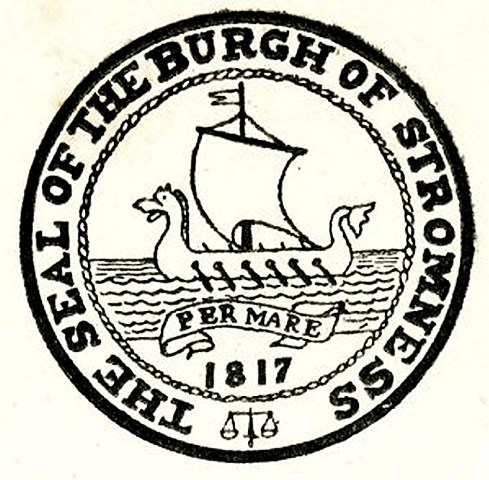 Seal of the Burgh of Stromness - note scales of justice (1)