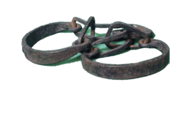 Slave shackles Stromness Museum