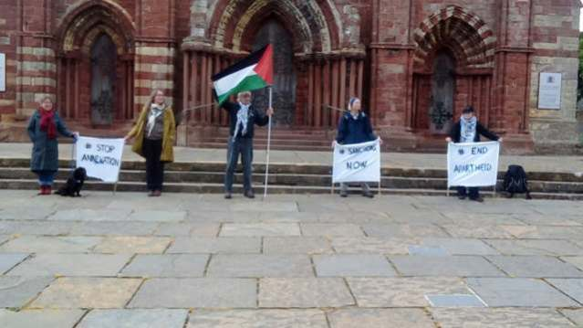 Orkney Friends of Palestine protest 4th July 2020 credit Nick Morrison