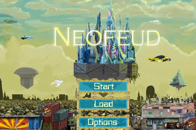 Neofeud title screen
