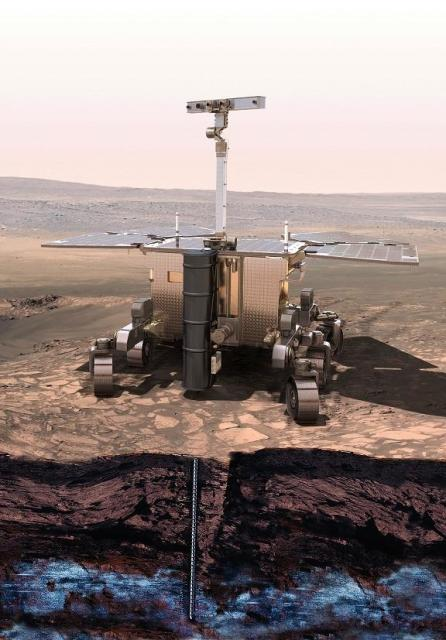 The Rosalind Franklin rover by European Space Agency and Roscosmos will drill 2 meters below the surface of Mars to search for signs of life.
