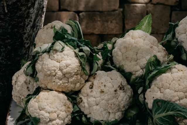 close up shot of cauliflowers