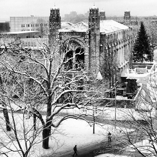 Snow | NU Evanston Campus from Kellogg