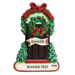 Wintery Door Personalised Christmas Ornament