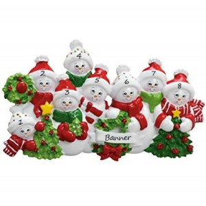 Snow family 8 Christmas Decoration